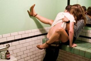 Men's room rendezvous
