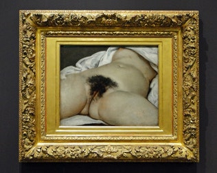 Pulsating labia: the Courbet's secret